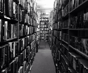 black and white, perfect, and book store image