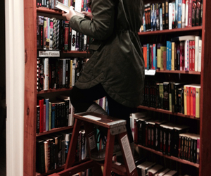 books, grunge, and library image