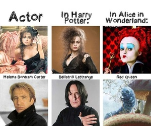 alice in wonderland, harry potter, and sir cadogan image