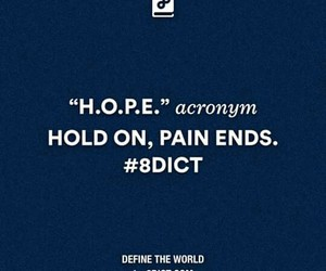hold on, hope, and pain image