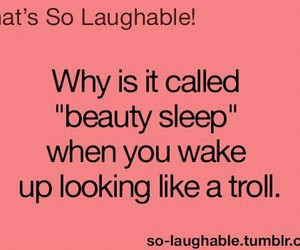 sleep, troll, and beauty image