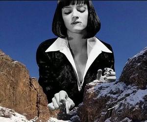 pulp fiction, uma thurman, and mountains image