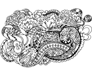 doodle, floral, and flower image