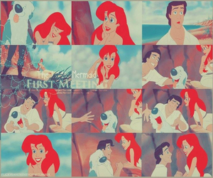 the little mermaid, ariel, and love image