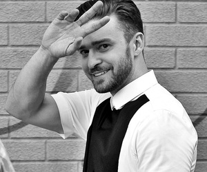 justin timberlake and black and white image
