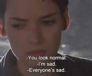 girl interrupted, sad, and lunatica image