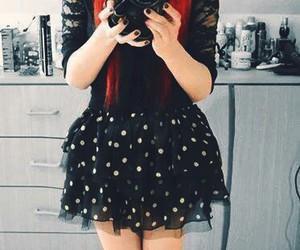 emo, girl, and hair image