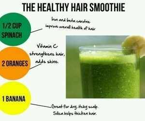 hair, healthy, and smoothie image