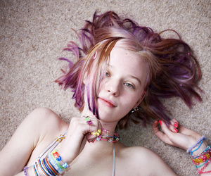 colored hair, girl, and photography image