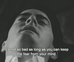 quote, fear, and Twin Peaks image