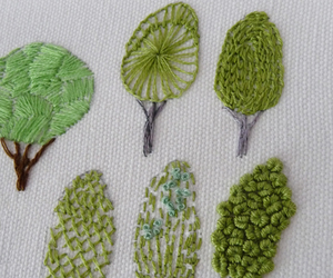 art, thread, and trees image