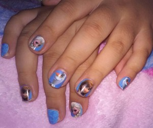 frozen, kids, and nails image