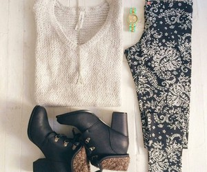 boots, sweater, and cool image