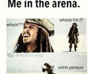 hunger games, arena, and funny image