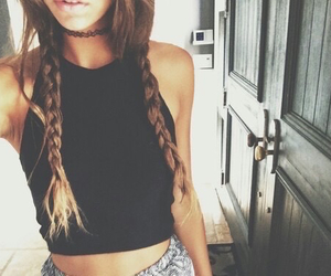 black, blonde, and braids image