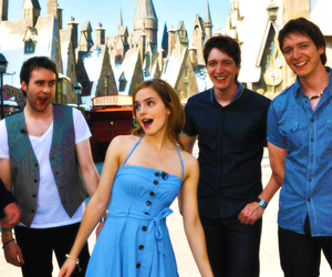 emma watson, harry potter, and james phelps image
