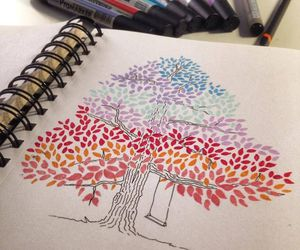 draw, drawing, and tree image