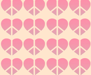 heart, peace, and pink image