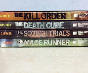 book, collection, and the maze runner image