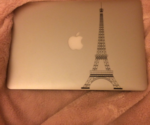 apple, paris, and decal image