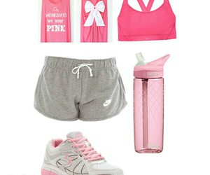 pink, workout, and look like a beauty image