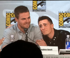 arrow, comic con, and colton haynes image