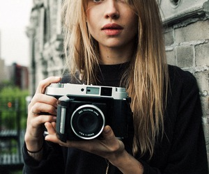 girl, camera, and model image
