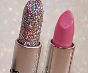 glitter mac, mac lip stick, and pink mac lipstick image