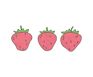 strawberry and overlays image