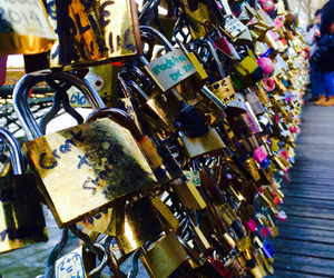 france, paris, and lock image