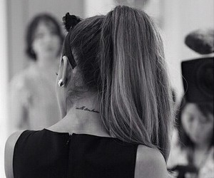 ariana grande, ariana, and tattoo image