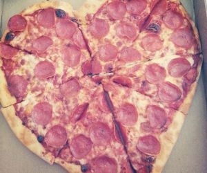 pizza, love, and food image
