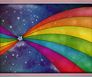 colorful, rainbow, and star image