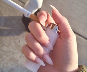 cigarette, claws, and hand image