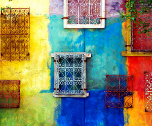 colorful, art, and windows image
