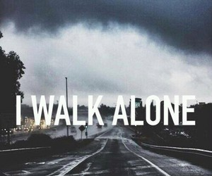 alone, walk, and sad image