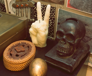 indie, peace, and skull image