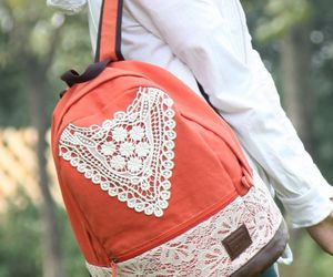 backpack, crochet, and fashion image