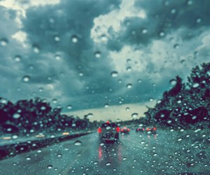 rain, road, and water image