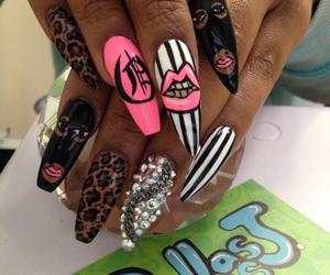 nails, acrylic nails, and cute image