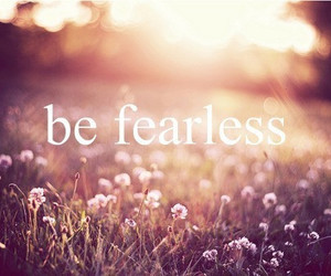 flowers, fearless, and quote image