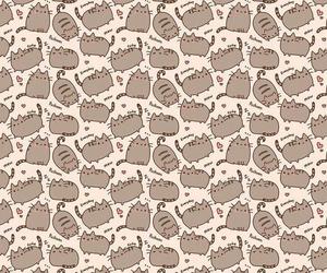 cat, pusheen, and wallpaper image