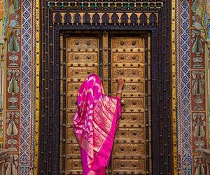 india, door, and indian image