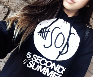 black, white, and 5 seconds of summer image