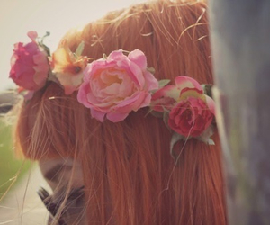 beatiful, flowers, and hair image