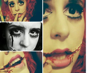 blood, makeup, and red image