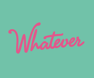 whatever, pink, and quotes image
