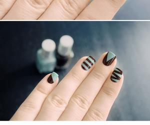 heart, nail, and nail paint image