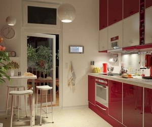 comfort, kitchen, and red image