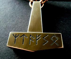 god, viking, and thor hammer image
